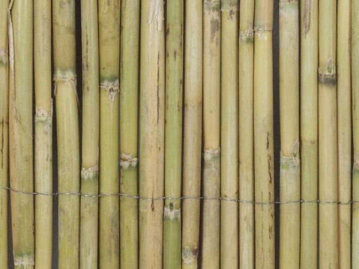 Den Garten Mit Bambusmatten Dekorieren Modern Naturlich